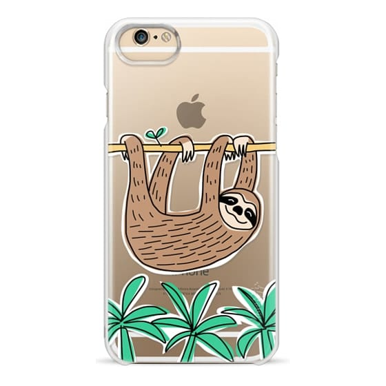 iPhone 6 Cases - Sloth - Tropical Animal - Palm Tree Leaves
