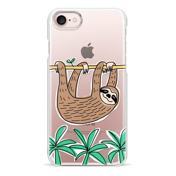 iPhone 7 Cases - Sloth - Tropical Animal - Palm Tree Leaves