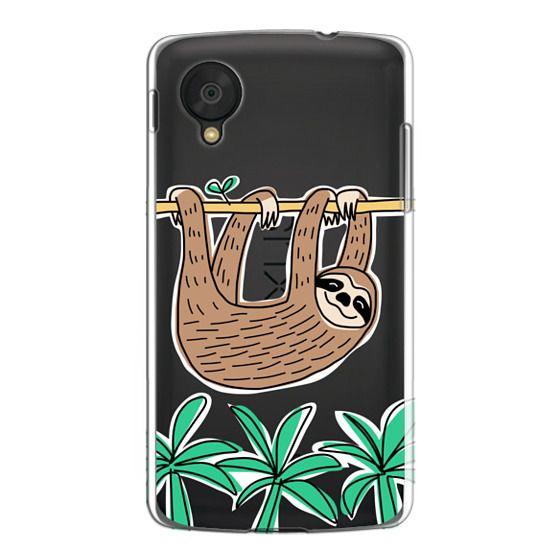 Nexus 5 Cases - Sloth - Tropical Animal - Palm Tree Leaves