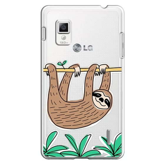 Optimus G Cases - Sloth - Tropical Animal - Palm Tree Leaves