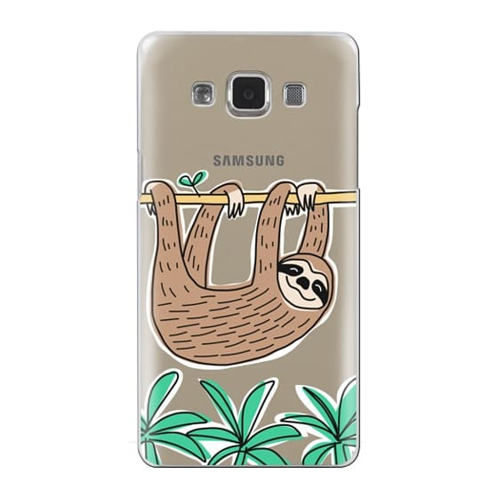 Samsung Galaxy A5 Cases - Sloth - Tropical Animal - Palm Tree Leaves