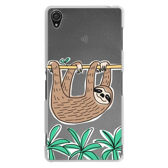 Sony Z3 Cases - Sloth - Tropical Animal - Palm Tree Leaves