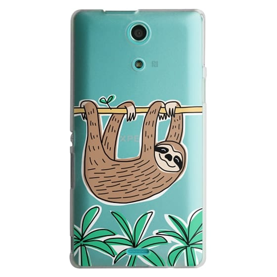 Sony Zr Cases - Sloth - Tropical Animal - Palm Tree Leaves