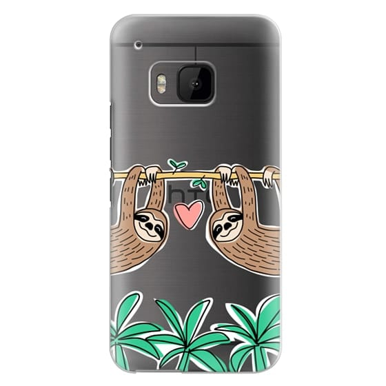 Htc One M9 Cases - Sloth Couple - Tropical Animal - Love - Pink Heart