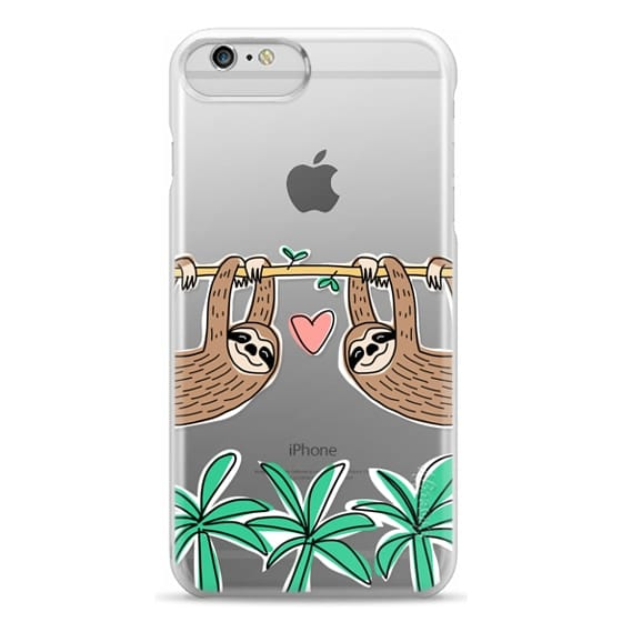 iPhone 6 Plus Cases - Sloth Couple - Tropical Animal - Love - Pink Heart