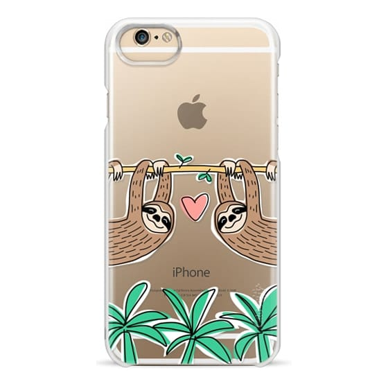 iPhone 6 Cases - Sloth Couple - Tropical Animal - Love - Pink Heart