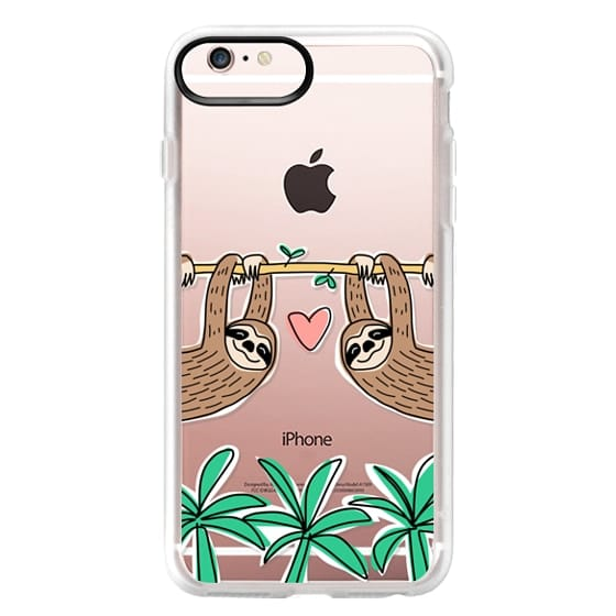 iPhone 6s Plus Cases - Sloth Couple - Tropical Animal - Love - Pink Heart