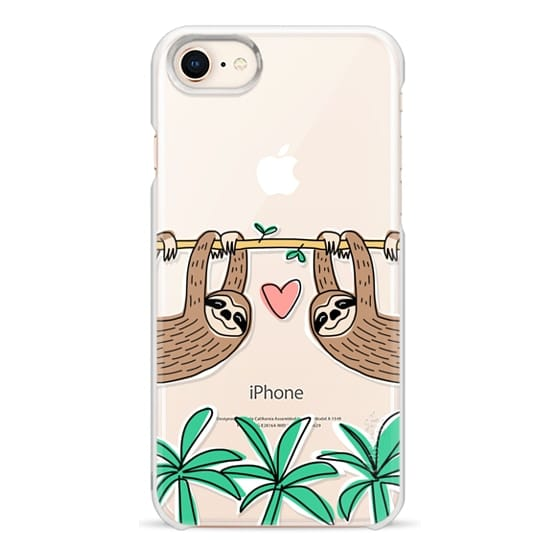 iPhone 8 Cases - Sloth Couple - Tropical Animal - Love - Pink Heart