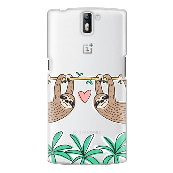 One Plus One Cases - Sloth Couple - Tropical Animal - Love - Pink Heart