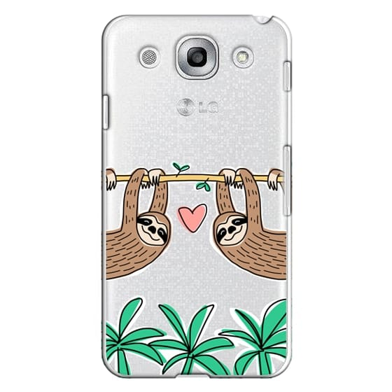 Optimus G Pro Cases - Sloth Couple - Tropical Animal - Love - Pink Heart