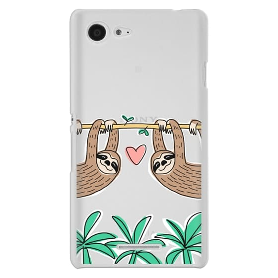 Sony E3 Cases - Sloth Couple - Tropical Animal - Love - Pink Heart