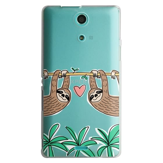 Sony Zr Cases - Sloth Couple - Tropical Animal - Love - Pink Heart