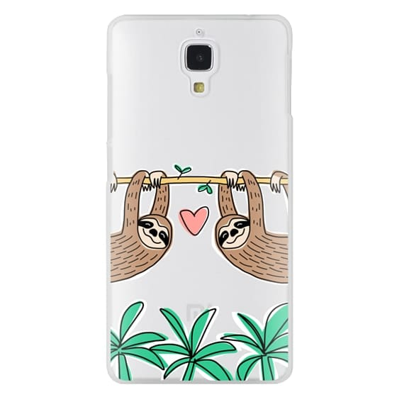 Xiaomi 4 Cases - Sloth Couple - Tropical Animal - Love - Pink Heart