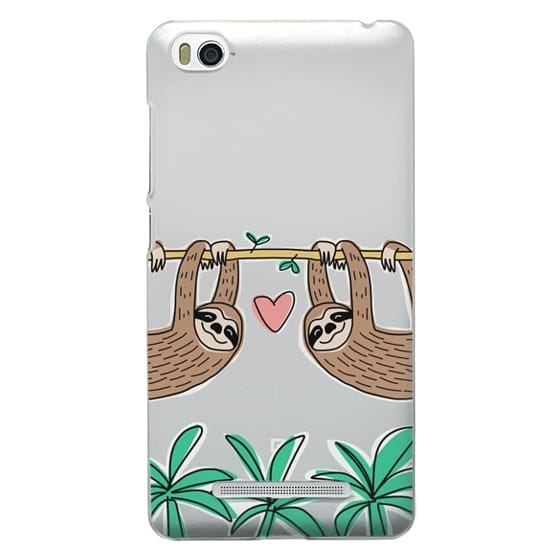 Xiaomi 4i Cases - Sloth Couple - Tropical Animal - Love - Pink Heart