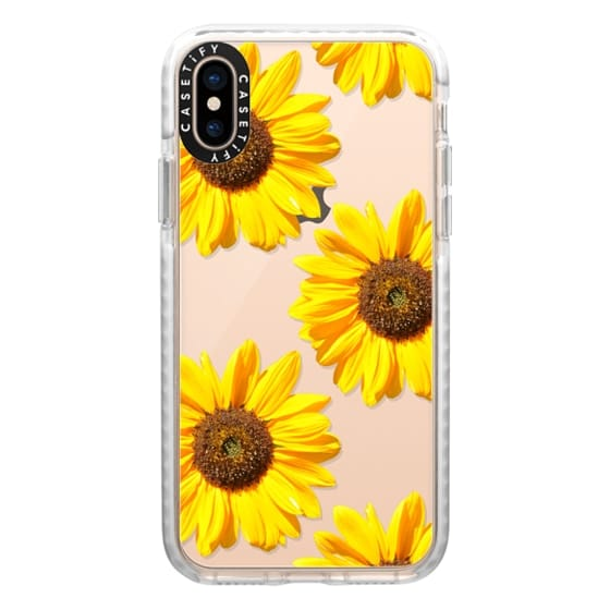 iPhone XS Cases - Sunflowers - Floral Pattern