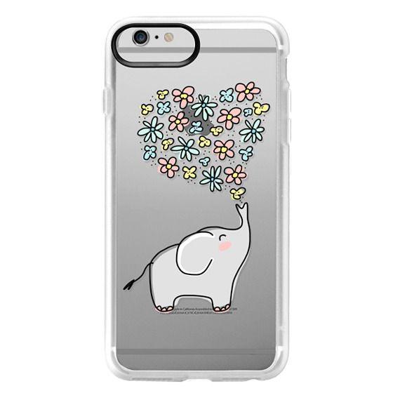 iPhone 6 Plus Cases - Elephant - Flowers Heart - Floral Love