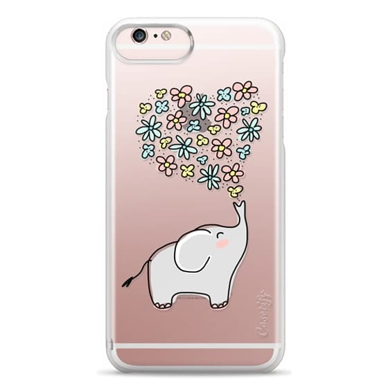 iPhone 6s Plus Cases - Elephant - Flowers Heart - Floral Love