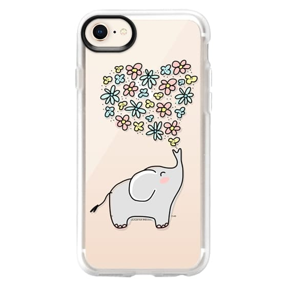 iPhone 8 Cases - Elephant - Flowers Heart - Floral Love