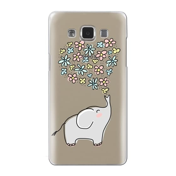 Samsung Galaxy A5 Cases - Elephant - Flowers Heart - Floral Love