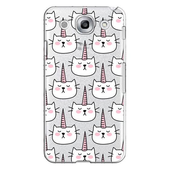 Optimus G Pro Cases - Caticorn Cat Unicorn Pattern - White Pink Black - Transparent
