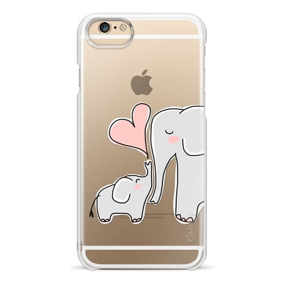 iPhone 6 Cases - Mom and Baby Elephant Love - Pink Heart
