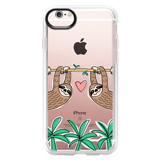 iPhone 6s Cases - Sloth Couple - Tropical Animal - Love - Pink Heart