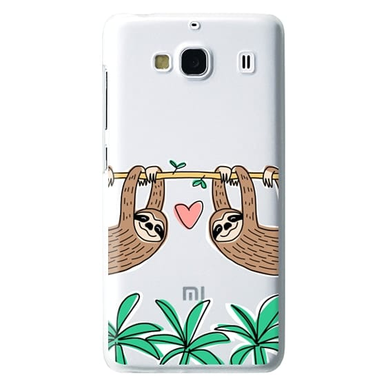 Redmi 2 Cases - Sloth Couple - Tropical Animal - Love - Pink Heart