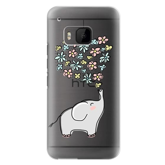 Htc One M9 Cases - Elephant - Flowers Heart - Floral Love