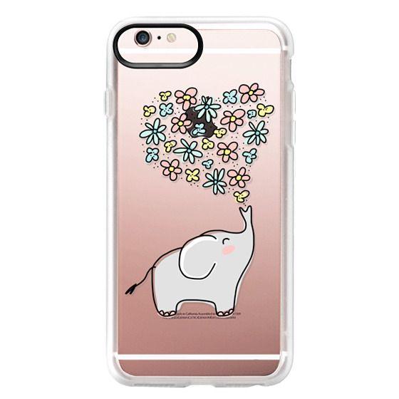 iPhone 6s Plus Cases - Elephant - Flowers Heart - Floral Love