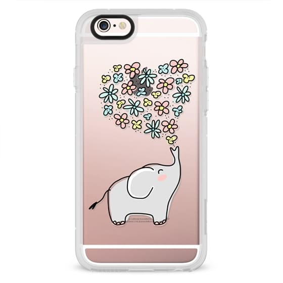 iPhone 4 Cases - Elephant - Flowers Heart - Floral Love