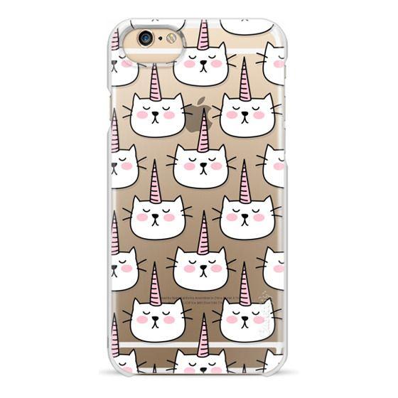 iPhone 6 Cases - Caticorn Cat Unicorn Pattern - White Pink Black - Transparent