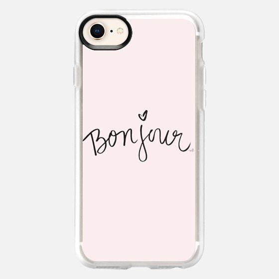 Bonjour Pink Hello Case - Snap Case