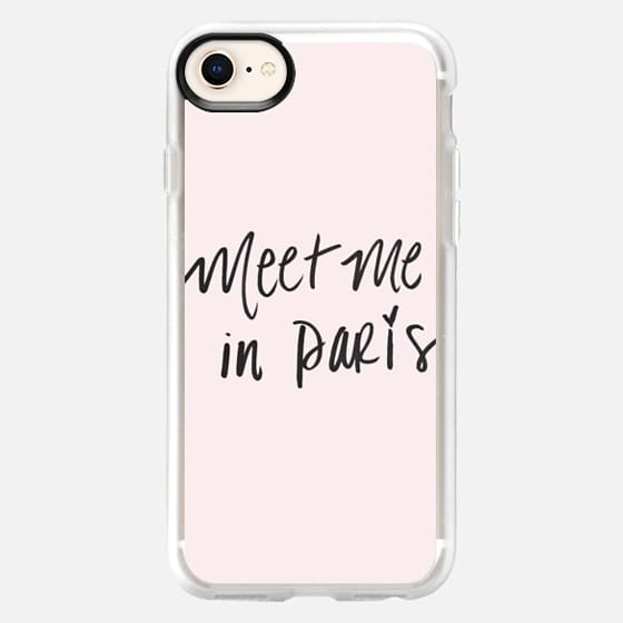 Meet Me In Paris Fashion Design Pink French Quote - Snap Case