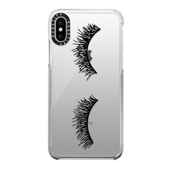 iPhone X Cases - Eyelash Wink