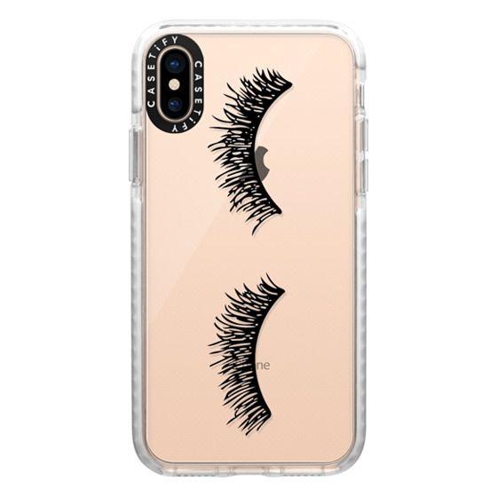 iPhone XS Cases - Eyelash Wink