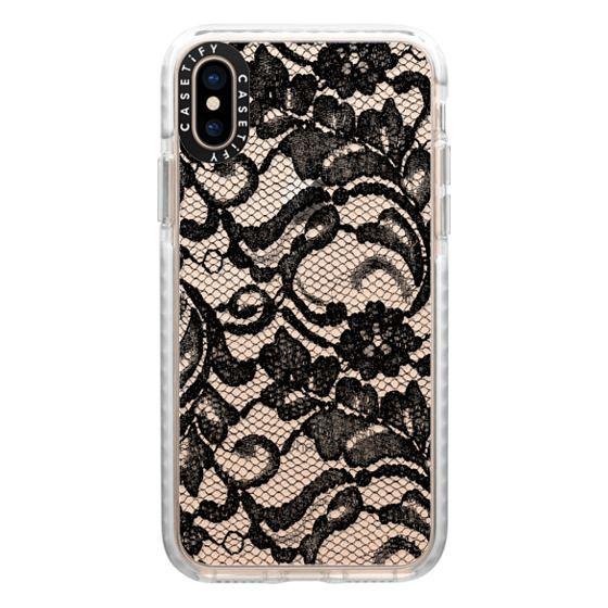 iPhone XS Cases - Black Lace