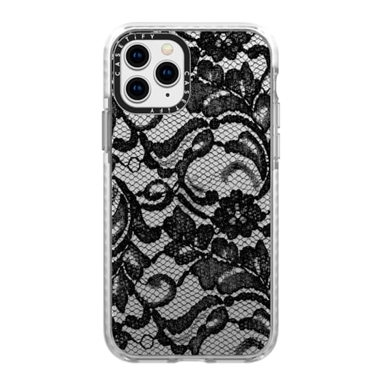 iPhone 11 Pro Cases - Black Lace